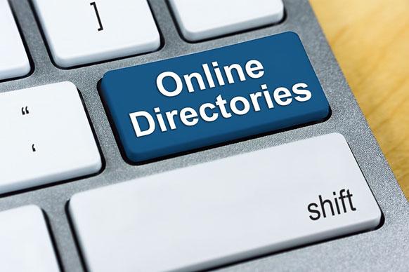 'Online Directories' keyboard key