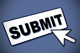 submit button and cursor arrow